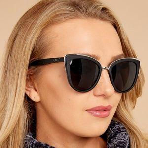 Quay My Girl Black/Smoke Cat Eye Sunglasses